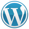 Blue WordPress logo, courtesy http://wordpress.org/about/logos/