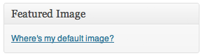 Default WordPress Post Thumbnail